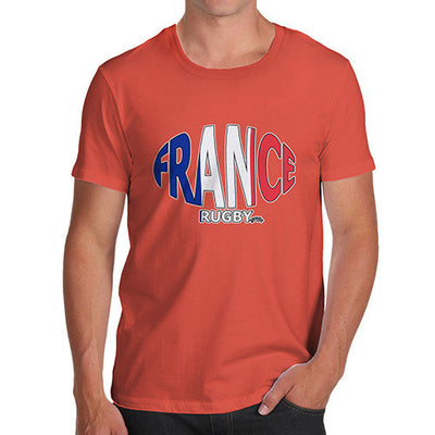 Men's France Rugby Ball Flag T-Shirt