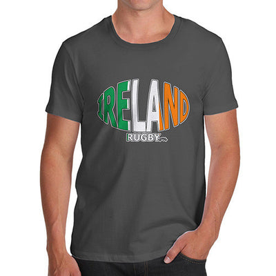 Men's Ireland Rugby Ball Flag T-Shirt