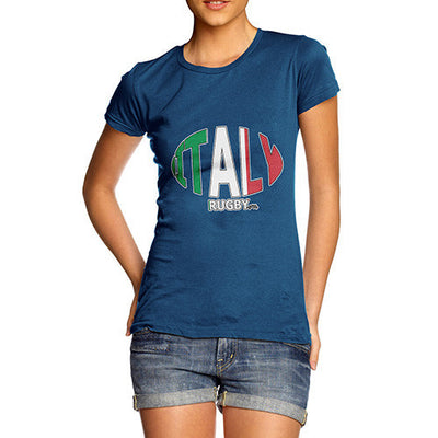 Women's Italy Rugby Ball Flag T-Shirt