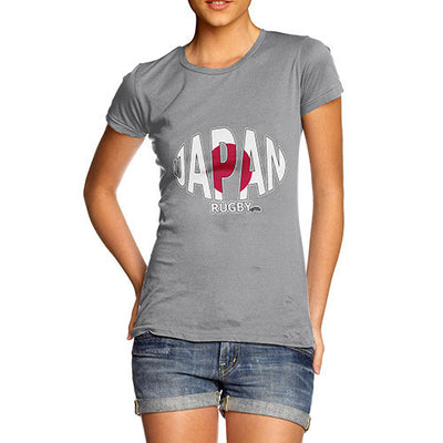 Women's Japan Rugby Ball Flag T-Shirt
