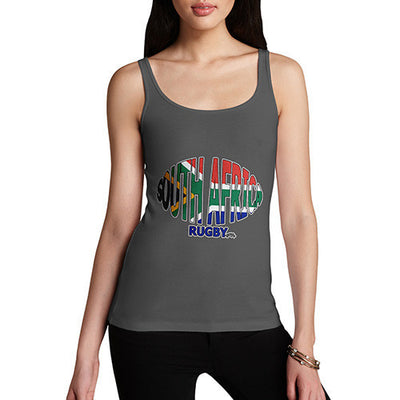 Women's South Africa Rugby Ball Flag Tank Top