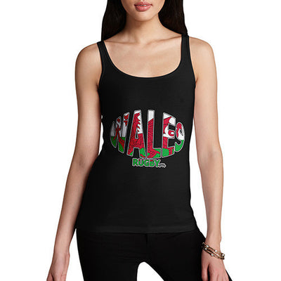 Women's Wales Rugby Ball Flag Tank Top