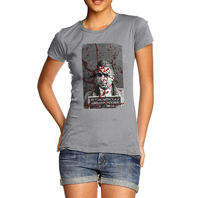 Women's Blood Splatter Mugshot T-Shirt