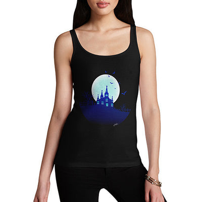 Women's Haunted Mansion On the Hill Tank Top