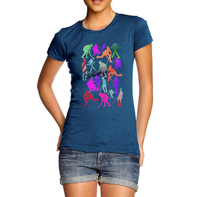 Women's Field Hockey Rainbow Silhouettes T-Shirt