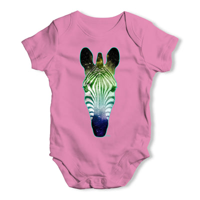 Galaxy Zebra Head Baby Grow Bodysuit