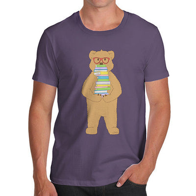 Men's Book Stack Teddy T-Shirt