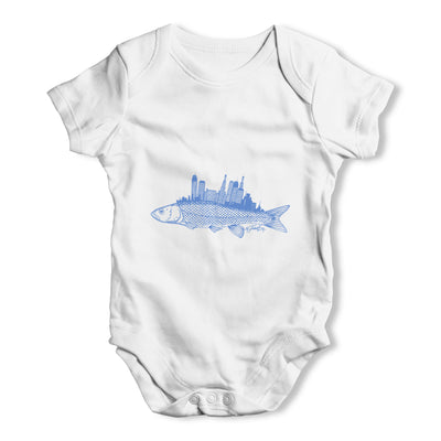 Fish City Baby Grow Bodysuit