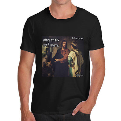 Men's Funny Christ and the Rich Young Ruler T-Shirt