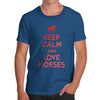 Men's Keep Calm And Love Horses T-Shirt