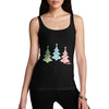 Women's Festive Snowflake Christmas Trees Tank Top
