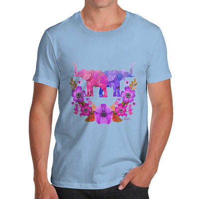 Men's Elephant Flower Power T-Shirt