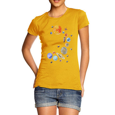 Women's Seashell Solar System T-Shirt