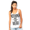 Nothing To Wear Women's Flowy Side Slit Tank
