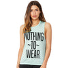 Nothing To Wear Women's Flowy Scoop Muscle Tank