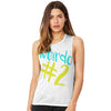Weirdo #2 Women's Flowy Scoop Muscle Tank