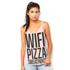 Wifi, Pizza, Sweatpants Women's Flowy Side Slit Tank