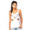 Rose Petal Arrows Women's Flowy Side Slit Tank