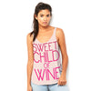 Sweet Child Of Wine Women's Flowy Side Slit Tank