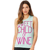 Sweet Child Of Wine Women's Flowy Scoop Muscle Tank