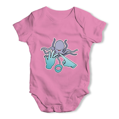 Sign Language Letter O Baby Grow Bodysuit