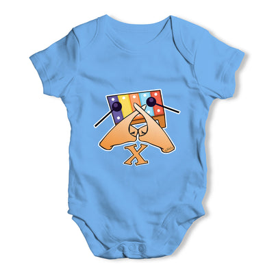 Sign Language Letter X Baby Grow Bodysuit