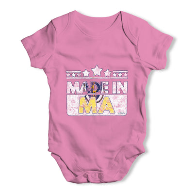 Made In MA Massachusetts Baby Grow Bodysuit