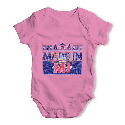 Made In MI Michigan Baby Grow Bodysuit