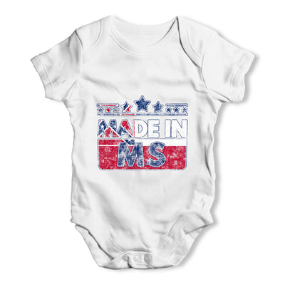 Made In MS Mississippi Baby Grow Bodysuit