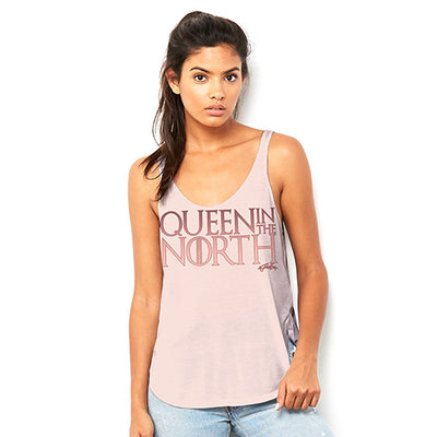 Queen In The North Women's Flowy Side Slit Tank