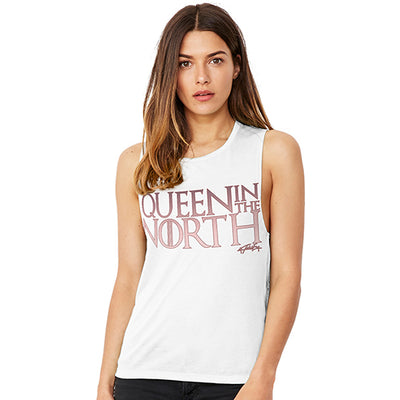 Queen In The North Women's Flowy Scoop Muscle Tank