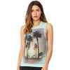 Palm Tree Sunset Women's Flowy Scoop Muscle Tank