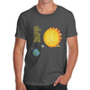 Hide and Seek Solar Eclipse Sun Moon Earth Men's T-Shirt