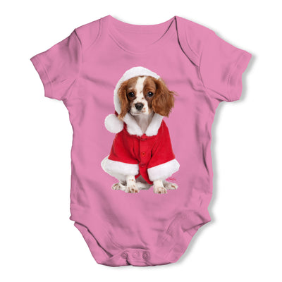 Christmas King Charles Spaniel Baby Grow Bodysuit