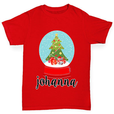 Personalised Christmas Snow Globe Boy's T-Shirt