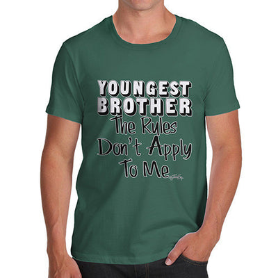Youngest Brother Rules Rules Don't Apply To Me Men's T-Shirt