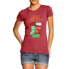 Personalised Merry Christmas Stockings Women's T-Shirt