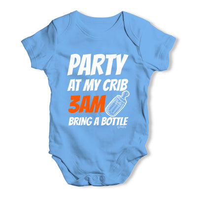 Party At My Crib Baby Grow Bodysuit