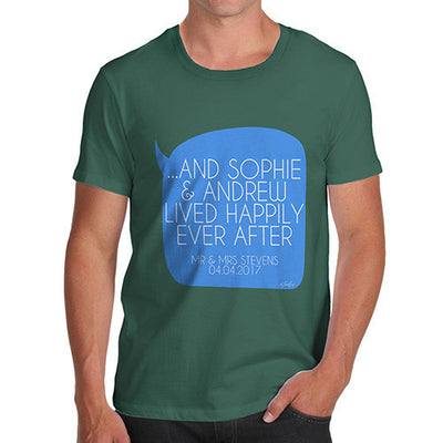 Personalised Happily Ever After Men's T-Shirt