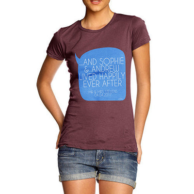 Personalised Happily Ever After Women's T-Shirt