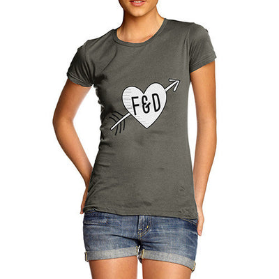 Personalised Cupid Heart Women's T-Shirt