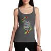 Personalised Just Married Flowers Women's Tank Top