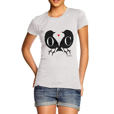 Personalised Love Birds Silhouettes Women's T-Shirt