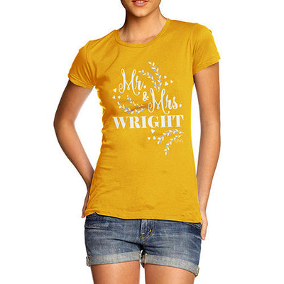 Personalised Mr & Mrs Hearts Women's T-Shirt