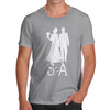 Personalised Wedding Silhouette Men's T-Shirt