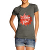 I Love You Spikey Speech Bubble Women's T-Shirt