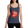 I Love You Spikey Speech Bubble Women's Tank Top