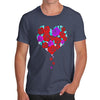Roses Love Heart Men's T-Shirt