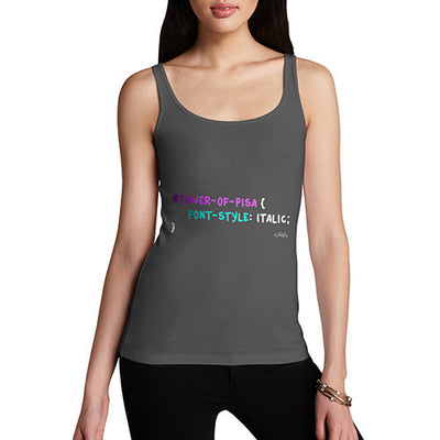 CSS Pun Tower Of Pisa Women's Tank Top