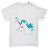 Unicorn Horn Hearts Girl's T-Shirt